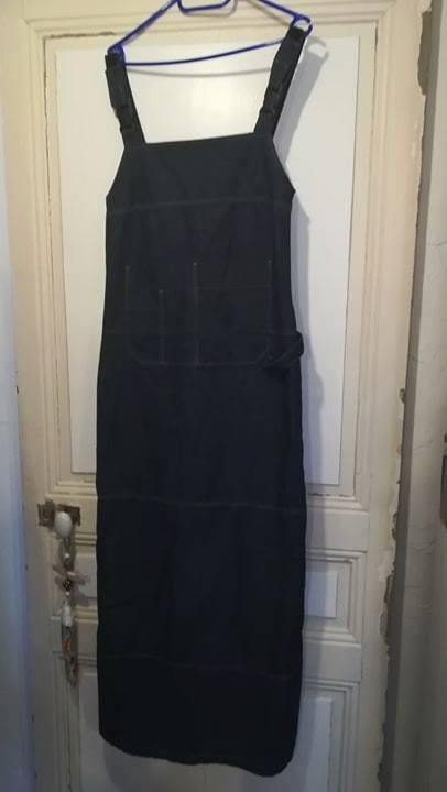 Robe longue en jean créations de janvier de L' atelier au fil d' Élo couturière la Tranche sur Mer